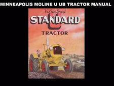 Minneapolis Moline U Ub Operation Manual for Mm Diesel Tractor Service & Repair