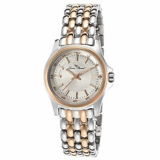 Lucien Piccard 13459-SR-22S Silver-Tone and Rose-Tone Steel Women's Quartz Watch