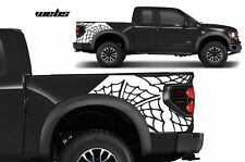 Custom Vinyl Rear Decal Webs Wrap Kit for Ford F-150 Raptor SVT 2010-2014 WHITE