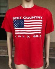 Vintage 80s 90s KPLX 99.5 Best Country T Shirt Tee Jays Hef-T USA XL 50/50 Texas