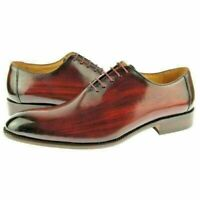 Mens Handmade Formal Shoes Full Upper Burgundy Derby Brogue Casual Dress Boots