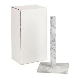 Homiu White Marble Paper Towel Holder Freestanding Kitchen Organisation Paper