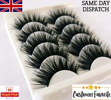 5 Pairs Soft Dramatic False Eyelashes Set St14 Long Wispy Strip Lashes Make up