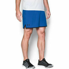 Under Armour UA Mens HeatGear Qualifier 5 Inch Woven Blue Sports Training Shorts