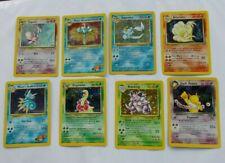 LOT Vintage Original Pokemon Cards ALL HOLO Cards Vaporeon Nidoking Espeon Hypno