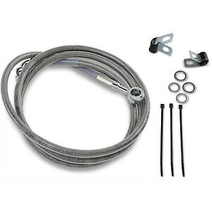 """Extended Stainless Steel Front Brake Line Kit +8"""" 93-05 Harley Softail Dyna"""