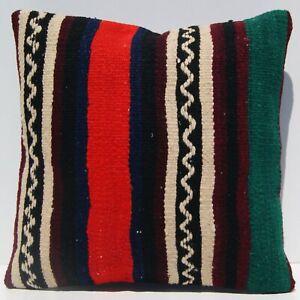 "Anatolian cushion 16""x16"" Turkish kilim pillow covers Handmade kilim area rugs"