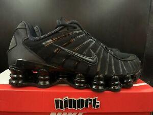 Nike Shox TL Triple Black Metallic Hematite Running Shoes AV3595-002 NEW