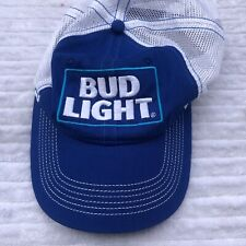 Bud Light Trucker Hat Blue Square Label Embroidered