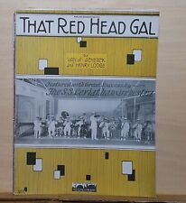 That Red Head Gal - 1923  sheet music - S.S. Leviathan Orchestra photo on cover
