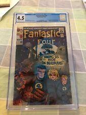 Fantastic Four 45, CGC 4.5, 1st of Lockjaw and Inhumans, Sandman and Dragon Man