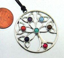 Gemstone Pendant Necklace 8569P Butw Tree of Life Genuine