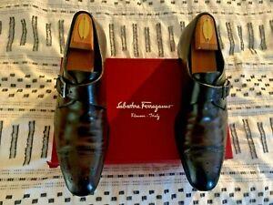 Salvatore Ferragamo Shoes - Leather Monk Straps - Men's Sz. 12 D