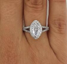 2 Carat Marquise Cut Diamond Engagement Ring SI1/D White Gold 14k 286973