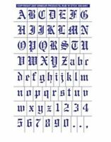 Armour Rub 'n' Etch Glass Etching Stencil ~ Old English Alphabet with Numbers