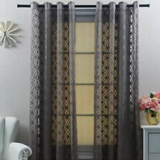 Geometric Modern Tulle Curatins Bedroom Yarn Circle Fabric Drapes Window Single