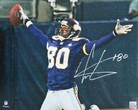 Cris Carter Signed Minnesota Vikings Arms Out Celebration 16x20 Photo - SCHWARTZ