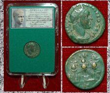 Ancient Roman Empire Coin Gordian Iii Three Standards Nicaea Bithynia Mint