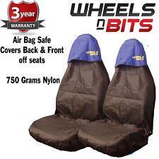 Mitsubishi 4x4 Car Seat Covers Waterproof Nylon Front Pair Protectors BLUE TOP