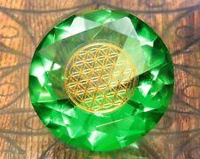 Tachyonen Diamant Blume des Lebens grün 45 Energie Erzengel Raphael 4. Chakra