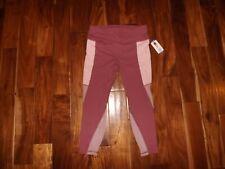 Nwt Womens Active Life Pink Mauve Exercise Active Mesh Panels Pants Size Xl $89