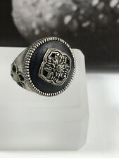 LUCKY BRAND LUCKY YOU ZEN PEACEFUL RING DISTRESSED SILVER TONE SZ 7