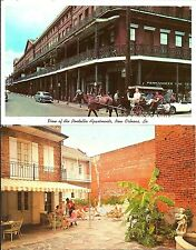 2 1969 POSTCARDS NEW ORLEANS HISTORIC PONTALBA APTS + PLACE D'ARMS HOTEL
