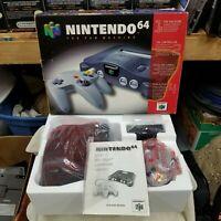 BRAND NEW N64 Nintendo 64 System Console Complete In Box Never Played NUS-001