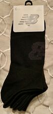 New Balance 6-Pack Mens Cushioned  No Show Socks Large USA  MENS 10-12 EUR 41-46