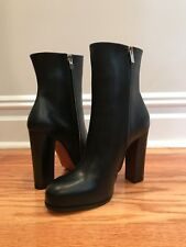 NIB Celine Phoebe Philo Runway Black Ankle Boots Size 39