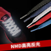 Flat Reflective Runner Shoe Laces Safety Luminous Glowing Shoelaces Strings New