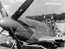 WW2  Photo WWII USAAF P-51 Mustang Ace George Preddy  World War Two /5221