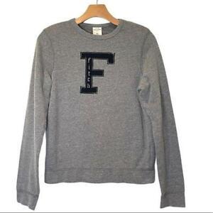 Abercrombie Distressed Logo Applique Sweatshirt XL