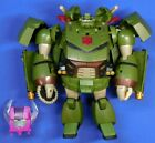 TRANSFORMERS ANIMATED BULKHEAD LEADER CLASS 2007 COMPLETE WITH HEADMASTER