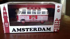 Greenlight Exclusive Volkswagen  VW Bus Window Box 1:64 21 window Amsterdam