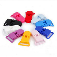 20pcs Baby Plastic Suspender Pacifier Clips Soother Dummy Bib Paci Toy Holder