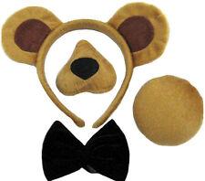 Unisex Bear Set Natività Costume Bear ORECCHIE CODA NASO Set con suono