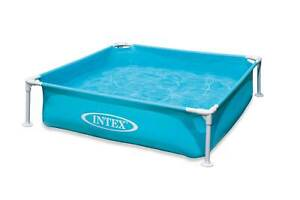Intex 57173EP 4ft x 12in Mini Frame Kiddie Beginner Frame Swimming Pool, Blue
