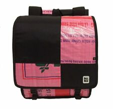 Koki UP2 Bike Bag Cycling Rack Pannier Pink & Black Recycled Materials
