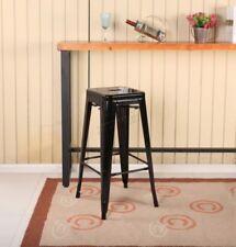 Taburetes y barras comedores de color principal negro para el hogar 60cm-80cm