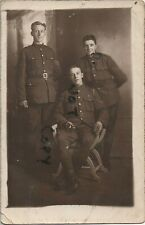 WW1 soldier NCO group Tank Corps TC in France