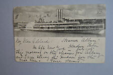 1904 us post card steamer albany ny to md