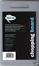 Chef Aid White Small Chopping Cutting Bar Kitchen Board 25 x 15 x 0.9cm 10E10789