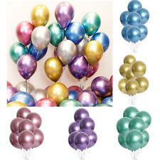25/50Pcs Metallic Party Balloons 12in Latex Helium Shiny Chrome Balloon Wedding