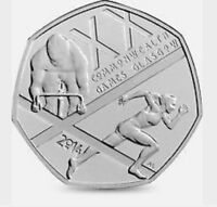2014 50P COIN COMMONWEALTH GAMES GLASGOW RARE FIFTY PENCE (g)