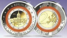 2 EURO MÜNZE VON 2018 MIT ORANGEFARBENEM POLYMER RING - SCHLOSS CHARLOTTENBURG