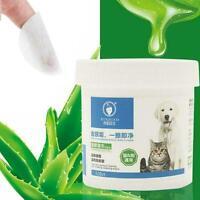 120pc Pet Hygiene Wipes Hund sauber Ohr Pfote Körper saubere sanfte Flecken D2F4