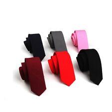 Cotton Ties Men's New Solid Neck Tie Narrow Slim Skinny Tie Wedding Necktie Tie