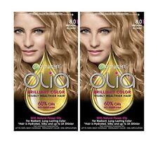 2 Packs Of Garnier Olia Permanent Hair Color - 8.0 Medium BlondeFree Shipping