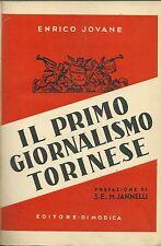 Jovane - Il Primo Giornalismo Torinese - Di Modica Torino 1938